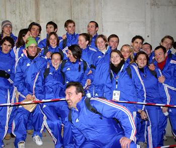 La délégation française à la cérémonie d'ouverture des Universiades de Turin 2007